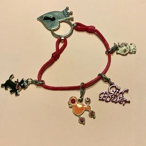 2/$10 Libby Lu Girl Power animal charm bracelet